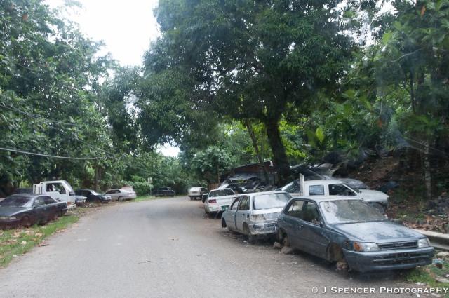 Junkyard or neighborhood?  Hm.