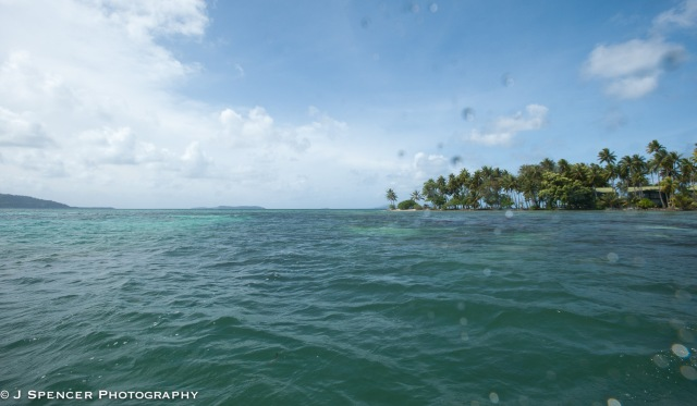 Wet camera port on the waters of Chuuk.