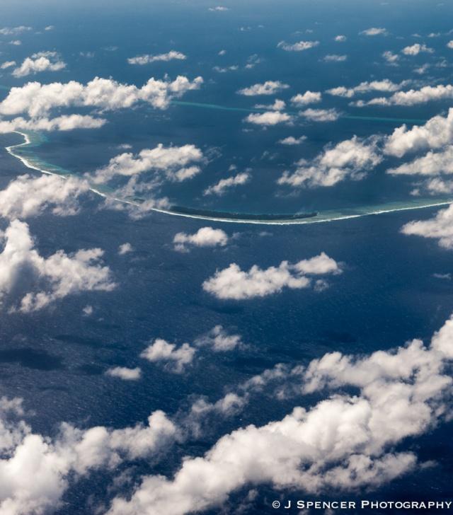 An Atoll - land at last as we approach Majuro