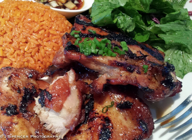Lunch at Proa - the BBQ'd chicken was delicious!