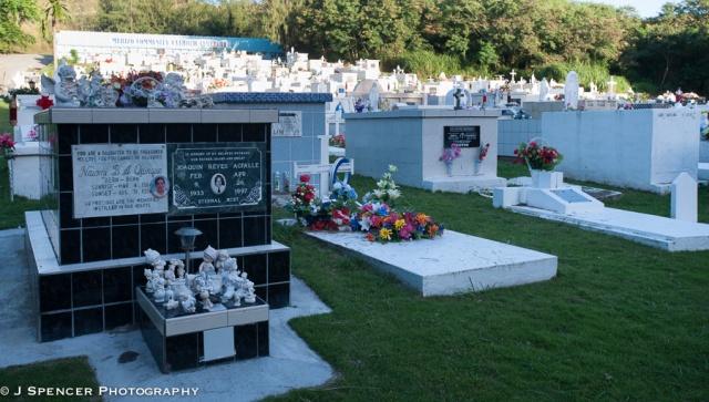 The local Catholic cemetery near Umatac