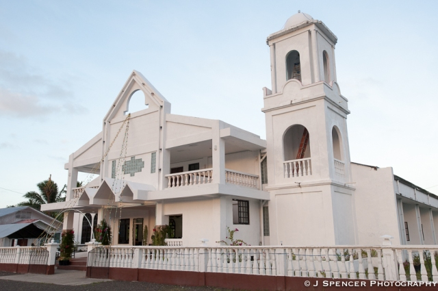 The big church in Kosrae.
