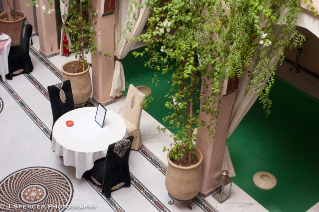 My beautiful riad's courtyard.
