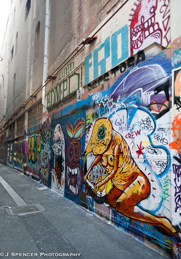 The city is also famous for its graffiti.  The artists ran when they saw me.